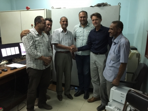 Eng. Ahmed Manor of PPC accepts the high accuracy tank gauging system